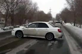 subaru camo wrx driver 360s way out of a potential crash