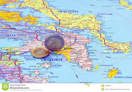 Map Greece by Map Of Greece And Euro Coins Stock Photos Image 22035073