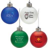 promotional shatter resistant ornaments with custom logo for 1 55 ea