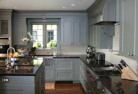 Painted Oak Kitchen Cabinets by Kitchen Design Grey Cabinets Outofhome