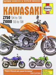 kawasaki z750 and z1000 service and repair manual 2003 to 2008