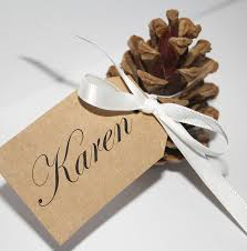 Buffet Sign Holders by Pine Cone Place Card Holders Google Search Wedding Stuff