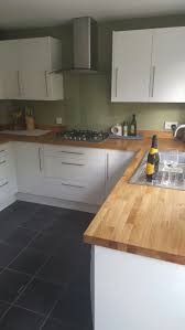 white gloss kitchen with oak worktops google search kitchens