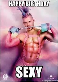 Happy Birthday Sexy Meme - happy birthday sexy unicorn guy meme generator