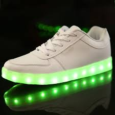 shoes that light up on the bottom nike 2015 new usb charging luminous led shoes with lights men women s