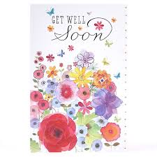 Get Well Soon Flowers Get Well Soon Card Flower Watercolour