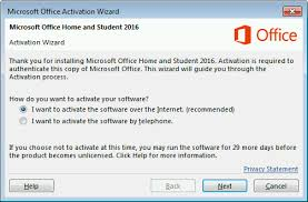 activate office 365 office 2016 or office 2013 using the