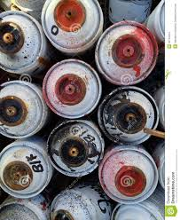 Spray Cans Paint - used spray paint cans stock images image 32734204