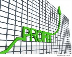 illustration of graph showing profit
