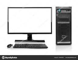 ordinateur pc de bureau ordinateur pc bureau moderne isolé photographie believeinme