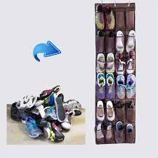 24 pockets large folding wardrobe hanging bags cavas organizer