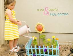 simple sister quick colorful kids u0027 garden