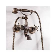 antique brass finish tub faucet with hand shower f 007 faucets