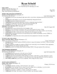 sports management resume samples treasury and risk management