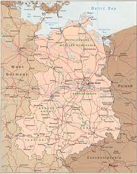 map of germany cities map of east germany east german cities