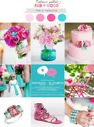 color palette for wedding pink and turquoise wedding colors palette turquoise weddings