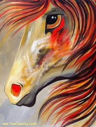 a horse of many colors painting by sherry shipley animais