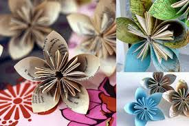 Make Flower With Paper - make with paper flower bouquet knitting crochet dıy craft