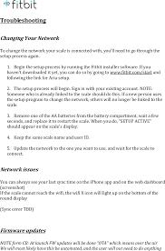 fb201a fitbit aria wifi smart scale user manual users manaul