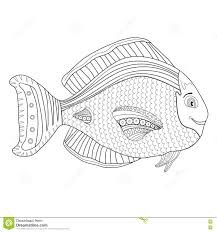 coloring book page kids coloring page with fish character
