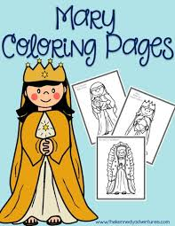 mary coloring pages catholic kids catholic coloring pages