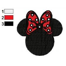 minnie mouse bows embroidery design