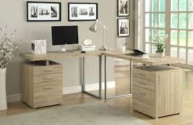 Natural Wood Computer Desk Computer Desks Reclaimed Oak Corner Desk Unit Image Wood