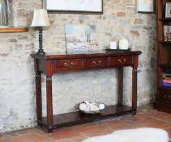 Narrow Tables Hallway Furniture Classic Teak Wood Narrow Console Table With