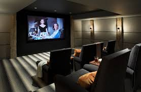 theater decoration home theater farmhouse with striped carpet
