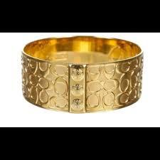 Monogrammed Bangle Bracelet 73 Off Coach Jewelry Coach Gold Tone Monogram Bangle Bracelet