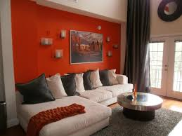 accent wall ideas for living room dark grey wall color cream