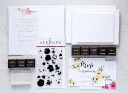diy wedding invitation kits diy wedding invitation kit from altenew a sting kit for