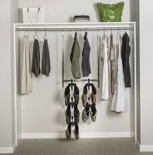 chrome double hang closet rod home design ideas