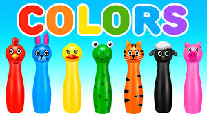 colour color learn colors with colors bowling game learning colors for children