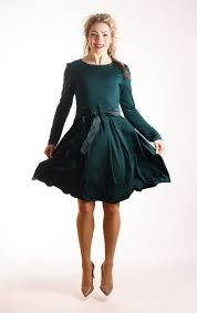 dark green dress skater dress green dress with pockets by adorique
