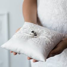 wedding ring pillow classic white lace ring pillow rent made to measure bridal