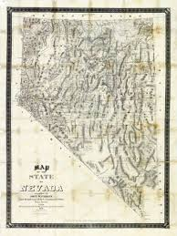 map of nevada unlv libraries digital collections map of the state of nevada 1886