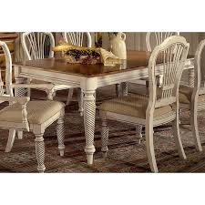 Antique Dining Room Table Chairs Hillsdale Wilshire Antique White Round Dining Table Hayneedle