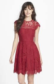 fit n flare cocktail dress code color dress pinterest red