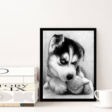 25 35cm gray curled up doggy design diy 5d diamond painting dog animal cross stitch embroidery home decor diamant schilderen p20 in diamond painting cross