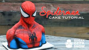 spiderman cake tutorial promo youtube