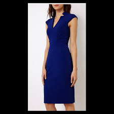 gorgeous and glorious karen millen blue dress u0026 duster coat with