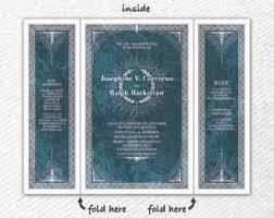 tri fold invitation etsy