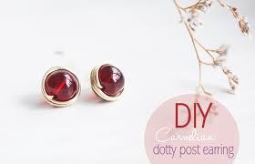 make stud earrings diy carnelian dotty post earring