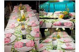 baby shower table settings palm springs pop art party ideas wedding birthday party baby