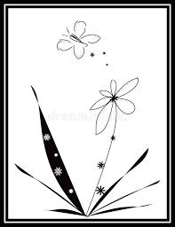 black and white butterfly design stock illustration illustration