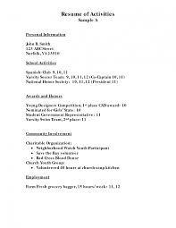 Resume Sample Kitchen by Inspiring Sample Resume For College Application And Free