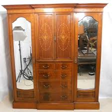 edwardian bedroom furniture for sale large edwardian marquetry inlaid combination wardrobe 160158