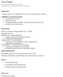 summary for entry level resume sample resume objectives entry level marketing a student may