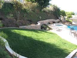garden paving hillside slope gardening slope of garden landscape